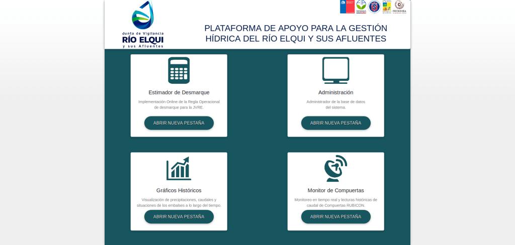 """Diseño de un sistema de gestión hídrica para la Junta de Vigilancia del Río Elqui y sus Afluentes, para mejorar la eficiencia en el uso del recurso hídrico bajo escenarios de cambio climático""""."""